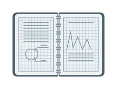 Mathematical vector seamless pattern with mathematical figures and equations - stock illustration