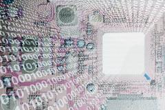 Illustration of microchip and binary Stock Illustration