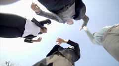 Young people coming together celebrating friendship. happiness lifestyle. Stock Footage