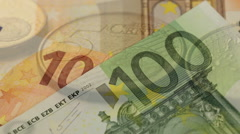 Looping Euro Notes Stock Footage