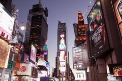 Illuminated billboards in Times Square Kuvituskuvat