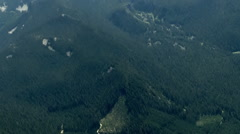 Oregon Cascades Forest Aerial Stock Footage
