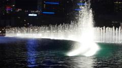 Beautiful fountain show at Bellagio Hotel Stock Footage