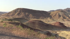 Painted Hills Pan 3 Stock Footage