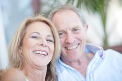 Older couple smiling together Kuvituskuvat