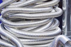Aluminium hoses Stock Photos