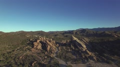 Descending View of Vasquez Rocks Stock Footage