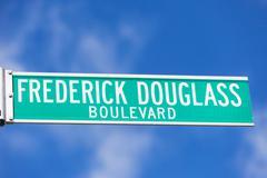 Frederick Douglass Blvd street sign Stock Photos