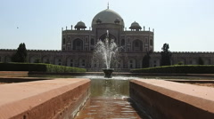 Fountain in front of Humayun's tomb Stock Footage