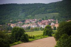 Italian town landscape Stock Photos