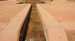 Fountain with water drainage system in Mughal Era Stock Footage