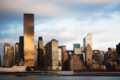 New York City skyline and waterfront Stock Illustration