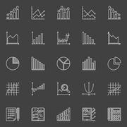 Statistics icons collection - stock illustration