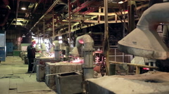 Interior of  industrial factory Stock Footage