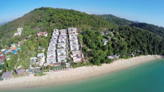 AERIAL: View of sea, Phuket, Thailand. Stock Footage