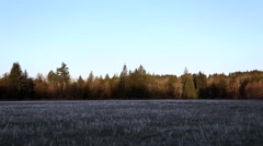 Wall of Dawn Awakens a Frosted Field Stock Footage