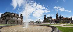 Katholische Hofkirche, Semperoper, Dresden, Germany - stock photo