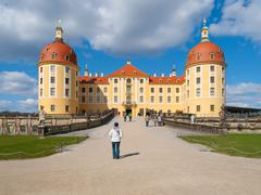 Baroque castle of Moritzburg in Germany - stock photo