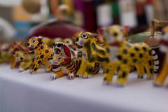 Animal figurines for sale - stock photo