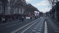 Empty rally / protest against new el Khomri law, Paris Stock Footage