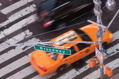 Yellow taxi cab on Broadway, New York City, USA Kuvituskuvat
