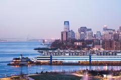 Jersey city skyline and waterfront at dusk, New Jersey, USA Kuvituskuvat