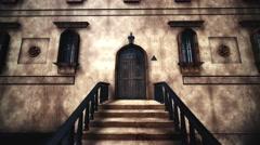 4K Old Fancy Building with the Free Masonic Grand Lodge Guild Sign Vertigo Ef Stock Footage