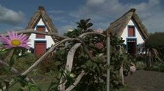 Madeira Island - Casas de Santana Stock Footage