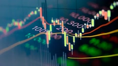 Stock market price feed footage Stock Footage