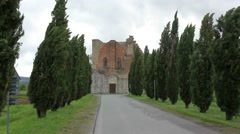 The Abbey of San Galgano Stock Footage