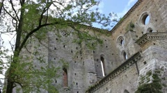 Ruins of San Galgano church - Tuscany - Italy Stock Footage