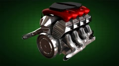 Loop rotate car engine. alpha matted Arkistovideo