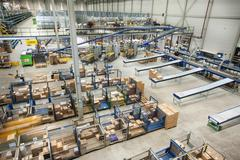 Assembling orders in distribution warehouse Stock Photos