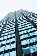 View of skyscraper from directly below Stock Photos