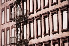 Fire escape on brown building Kuvituskuvat
