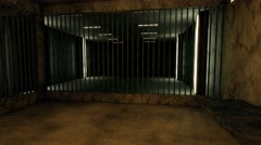 4K Old Worn Out Super Criminal Prison Cell Lockup Scene v3 2 - stock footage