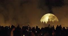 Loy Khratong Lantern Festival Stock Footage
