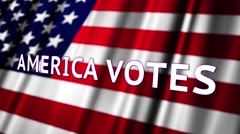 4K America Votes Presidential Election Insert 3 Stock Footage