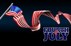 Fourth of July Independence Day American Flag Design Stock Illustration