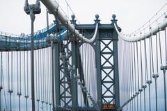 Architectural detail Manhattan Bridge, New York, USA Stock Photos