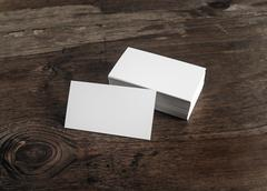 White business cards - stock photo