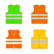 vest signal in vector - stock illustration