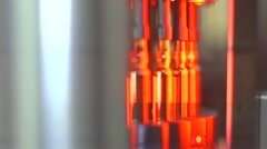 View of medicine manufacturing Stock Footage