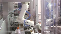 Medicine robot packaging Stock Footage