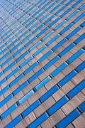 Abstract view of skyscraper, New York City, USA - stock photo