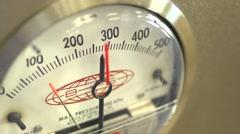 The pressure gauge installation pressure control Stock Footage