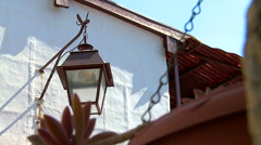 Street lamp in Village of north Portugal. - stock footage