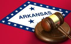 Arkansas Law Legal System Concept - stock illustration