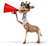 Fun giraffe - stock illustration