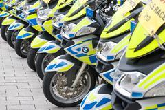 UK Police motorcycles Stock Photos